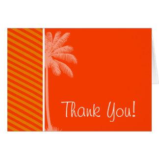 Tropical Palm; Orange Stripes Card