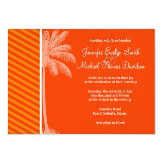 Tropical Palm; Orange Stripes Invites