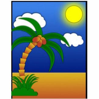 Tropical Palm Photo Sculpture