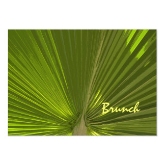 Tropical Palm Post Wedding Brunch Invitation