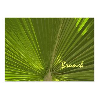 Tropical Palm Post Wedding Brunch Invitation
