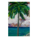 Tropical Palm Poster
