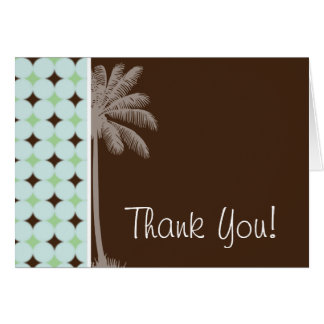 Tropical Palm; Sage Green & Brown Cards