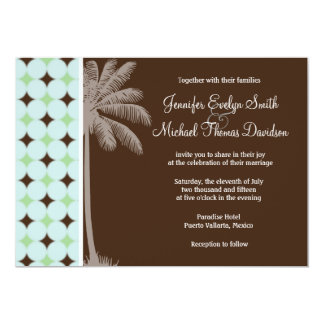 Tropical Palm; Sage Green & Brown Card