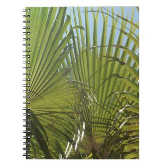Tropical palm spiral notebook