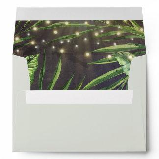 Tropical Palm String of Lights Beach Envelope