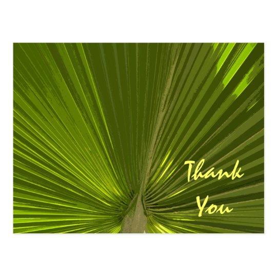 Tropical Palm Thank You Postcard
