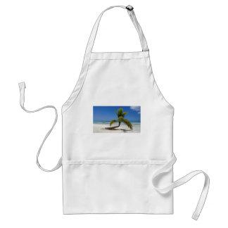 tropical palm tree adult apron