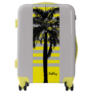 Tropical Palm Tree ANY COLOR Personalized Luggage