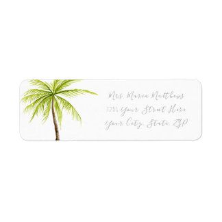 Tropical Palm Tree Beach Address Labels