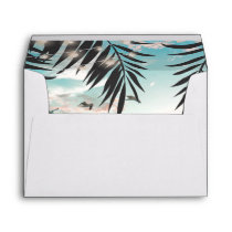 Tropical Palm Tree Beach Destination Envelope