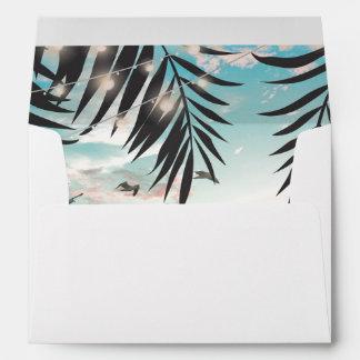 Tropical Palm Tree Beach Destination Envelope