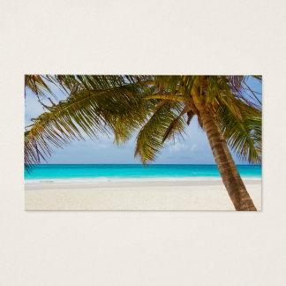 Tropical Palm Tree Beach Landscape Business Card