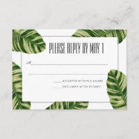Tropical Palm Tree Beach RSVP Card