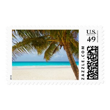 Beach Themed Tropical Palm Tree Beach Vacation Travel Stamp