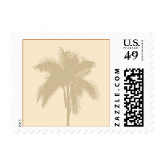 Tropical Palm Tree Beach Wedding Summer RSVP Postage