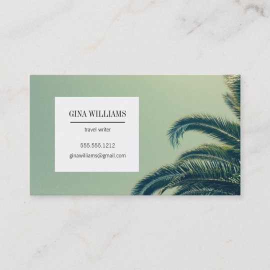 Tropical palm tree business card zazzle tropical palm tree business card colourmoves