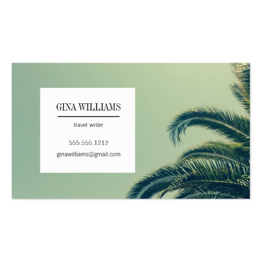 tropical palm tree business card