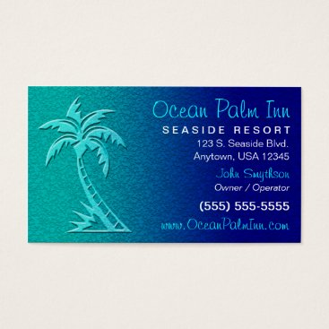 Professional Business Tropical / Palm Tree Business Card