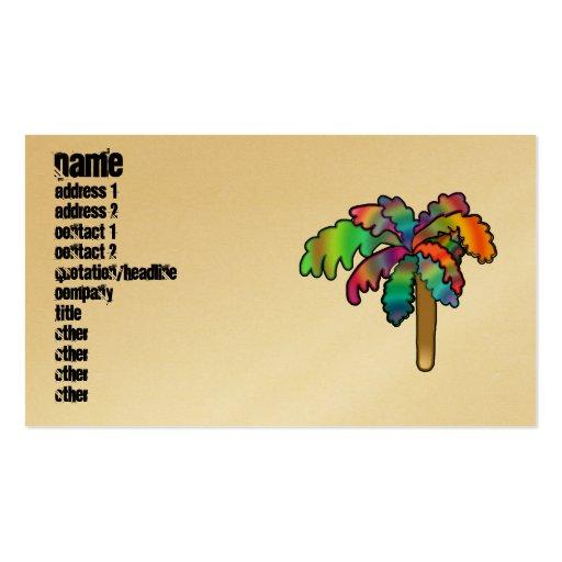 Tropical Palm Tree Business Card