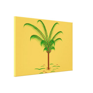 Tropical Palm Tree Canvas Print