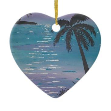 paintingbuzz Tropical Palm Tree Ceramic Ornament