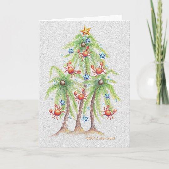 Tropical Palm Tree Christmas Card Zazzlecom
