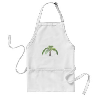 tropical palm tree collection - drawing VI Adult Apron