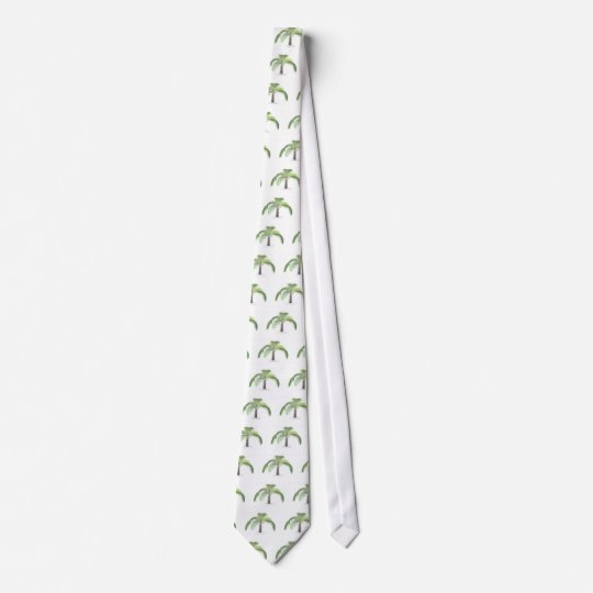 tropical palm tree collection - drawing VI Neck Tie
