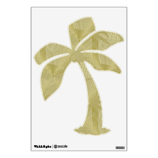 Tropical Palm Tree decal in soft beige and tan