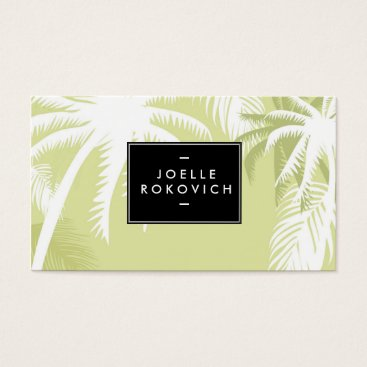 Beach Themed Tropical Palm Tree Designer Business Card Template