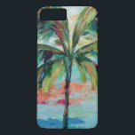 "Tropical | Palm Tree iPhone 8 Plus/7 Plus Case<br><div class=""desc"">An abstract version of palm tree in dark green,  blue and red strokes. Artist : Silvia Vassileva</div>"
