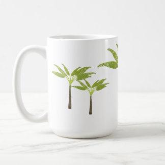Tropical Palm Tree Island Beach Theme Simple Classic White Coffee Mug