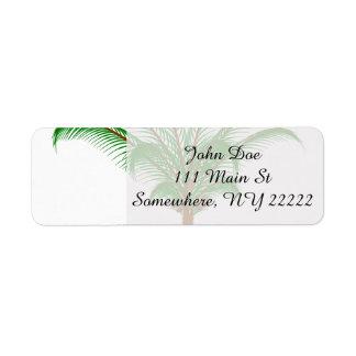 Tropical Palm Tree Return Address Label