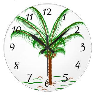 Tropical Palm Tree Large Clock