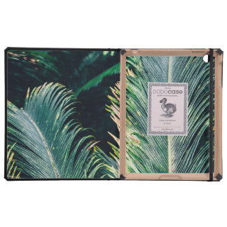 Tropical Palm Tree Leaves, Exotic Photograph iPad Cover
