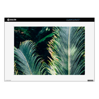 "Tropical Palm Tree Leaves, Exotic Photograph Skin For 15"" Laptop"