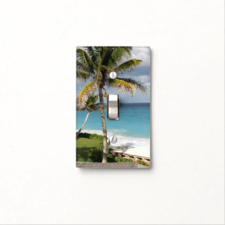 tropical palm tree light switch plate