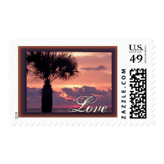 Tropical Palm Tree Love Postage