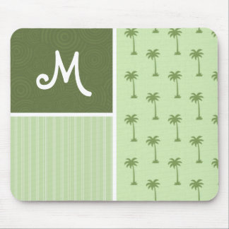 Tropical Palm Tree Pattern Mouse Pad