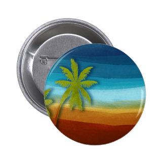 Tropical Palm Tree Pinback Button