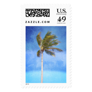 Tropical Palm Tree Postage Stamps