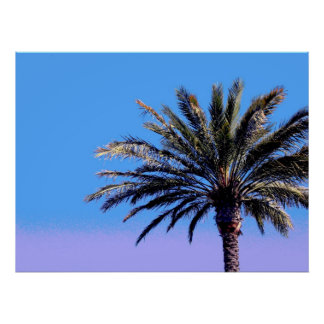 tropical palm tree posters