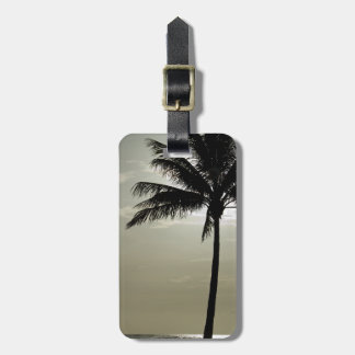Tropical Palm Tree Silhouette Luggage Tag