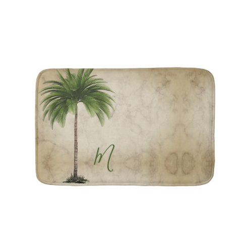 Tropical  Palm Tree Vintage Elegant Bath Mat