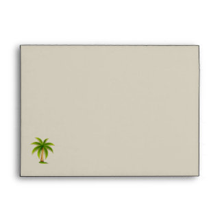 Tropical Palm Tree Wedding Envelope Envelope