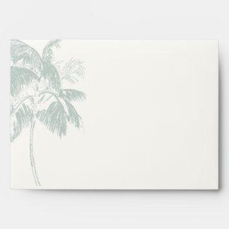 Tropical Palm Tree Wedding Invitation Envelope
