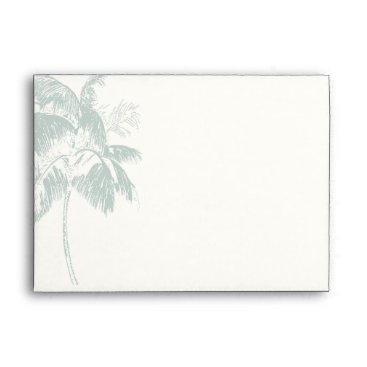 Beach Themed Tropical Palm Tree Wedding Invitation Envelope