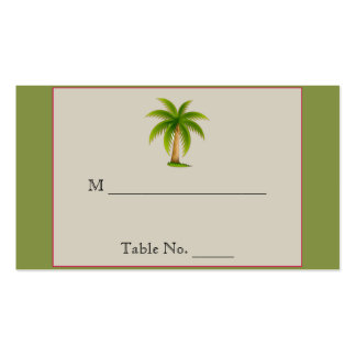 Tropical Palm Tree Wedding Place Cards Double-Sided Standard Business Cards (Pack Of 100)