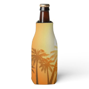 adamfahey Tropical palm trees at sunset bottle cooler